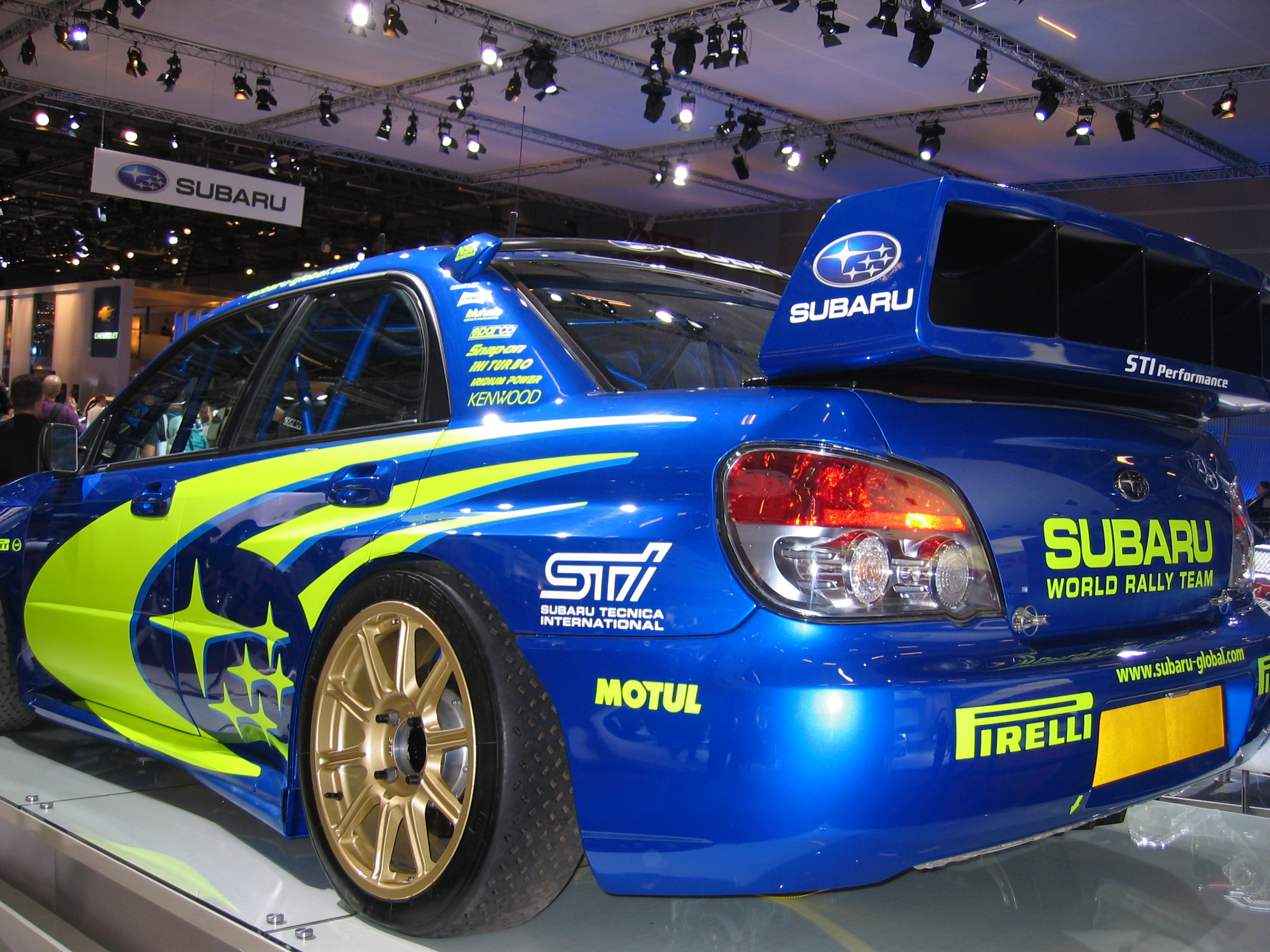 File Subaru Wrx Sti Rally Car At The 2006 Paris Auto Show