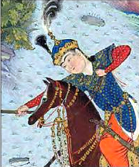 Tahmuras (The Shahnama of Shah Tahmasp).png