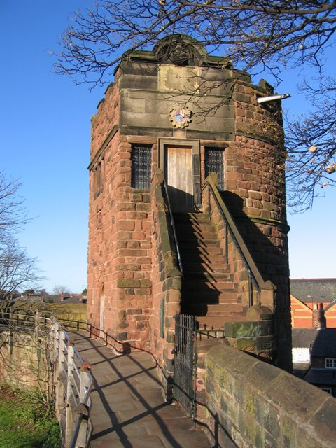 Phoenix Tower on Chester city walls, where Charles is said to have watched his army lose.