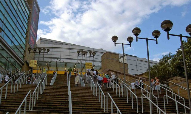 The steps to the MEN arena - geograph.org.uk - 1399060.jpg