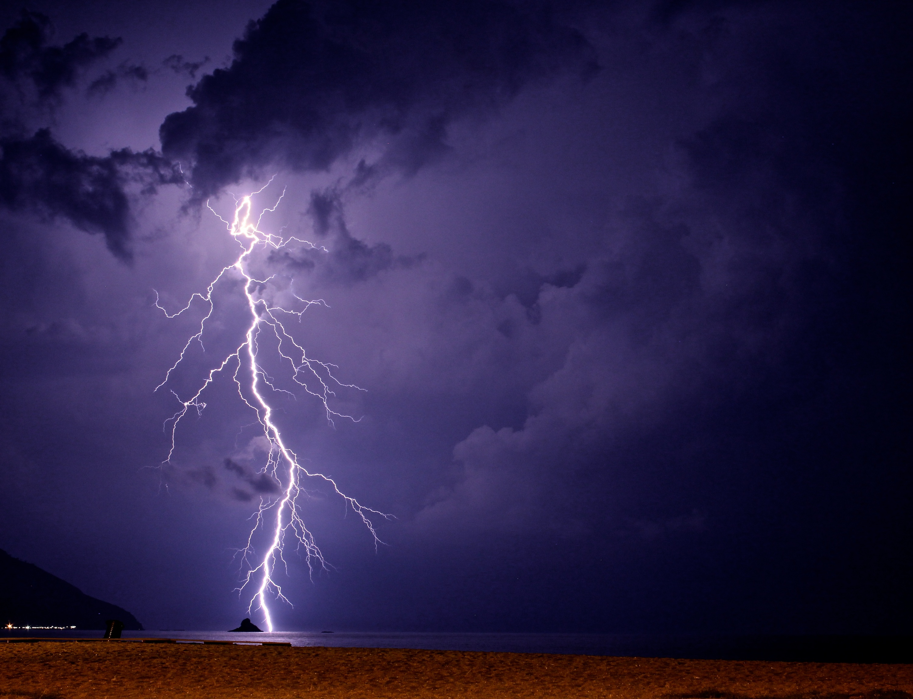 a description of thunderstorms as where lightning and thunder occur A storm of heavy rain accompanied by lightning, thunder, wind, and sometimes hail thunderstorms occur when moist air near the ground becomes heated, especially in the summer, and rises, forming cumulonimbus clouds that produce precipitation.