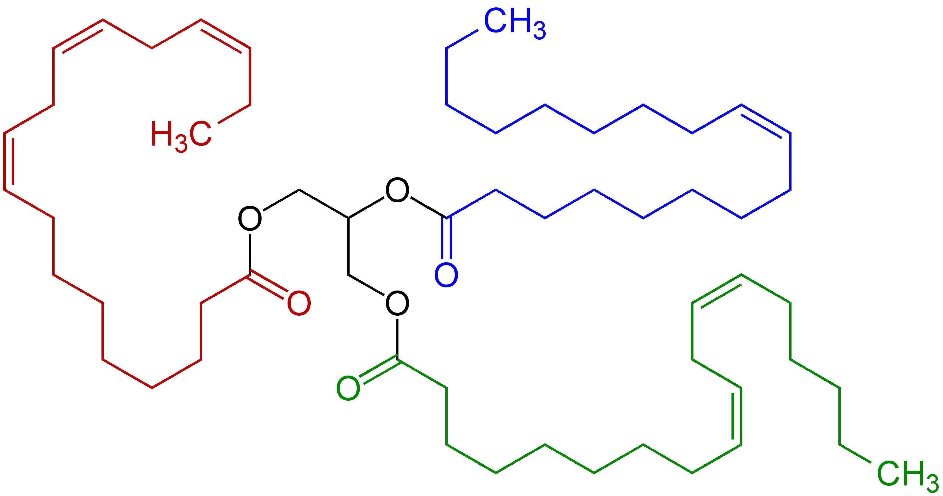 Description Triglyceride unsaturated Structural Formulae V 1 pngTriglyceride Unsaturated