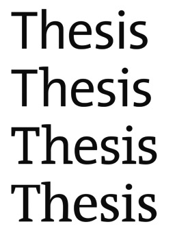 thesis typeface Thesis typeface history custom essay writing assumes a profound research on the given topic fortunately, all of our writers have degrees in one or several.