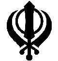 Khanda, símbolo sikh formado por tres armas