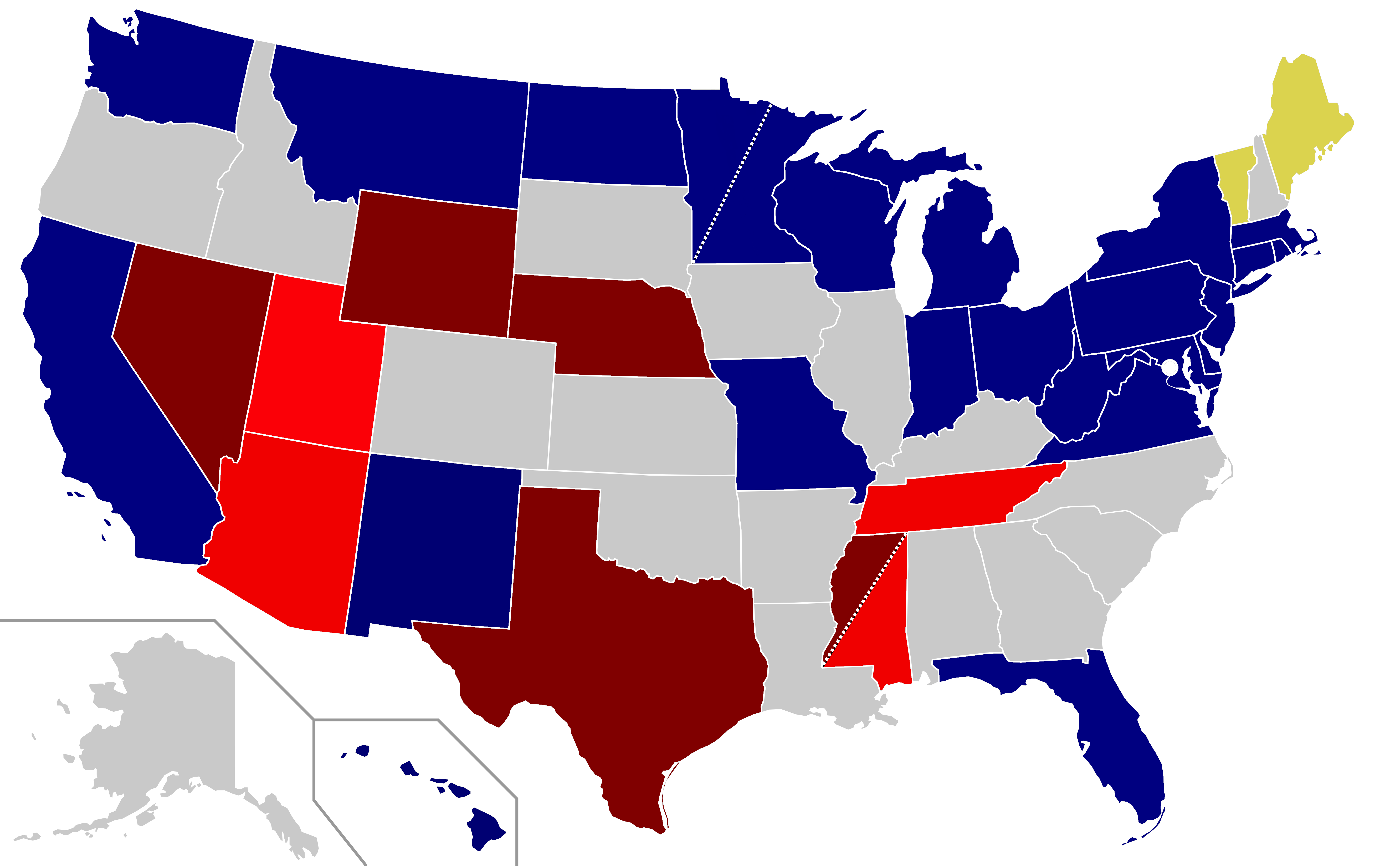 Us Red Blue Map 2018.File Us Senate Election 2018 As Of 2018 03 06 Png Wikimedia Commons