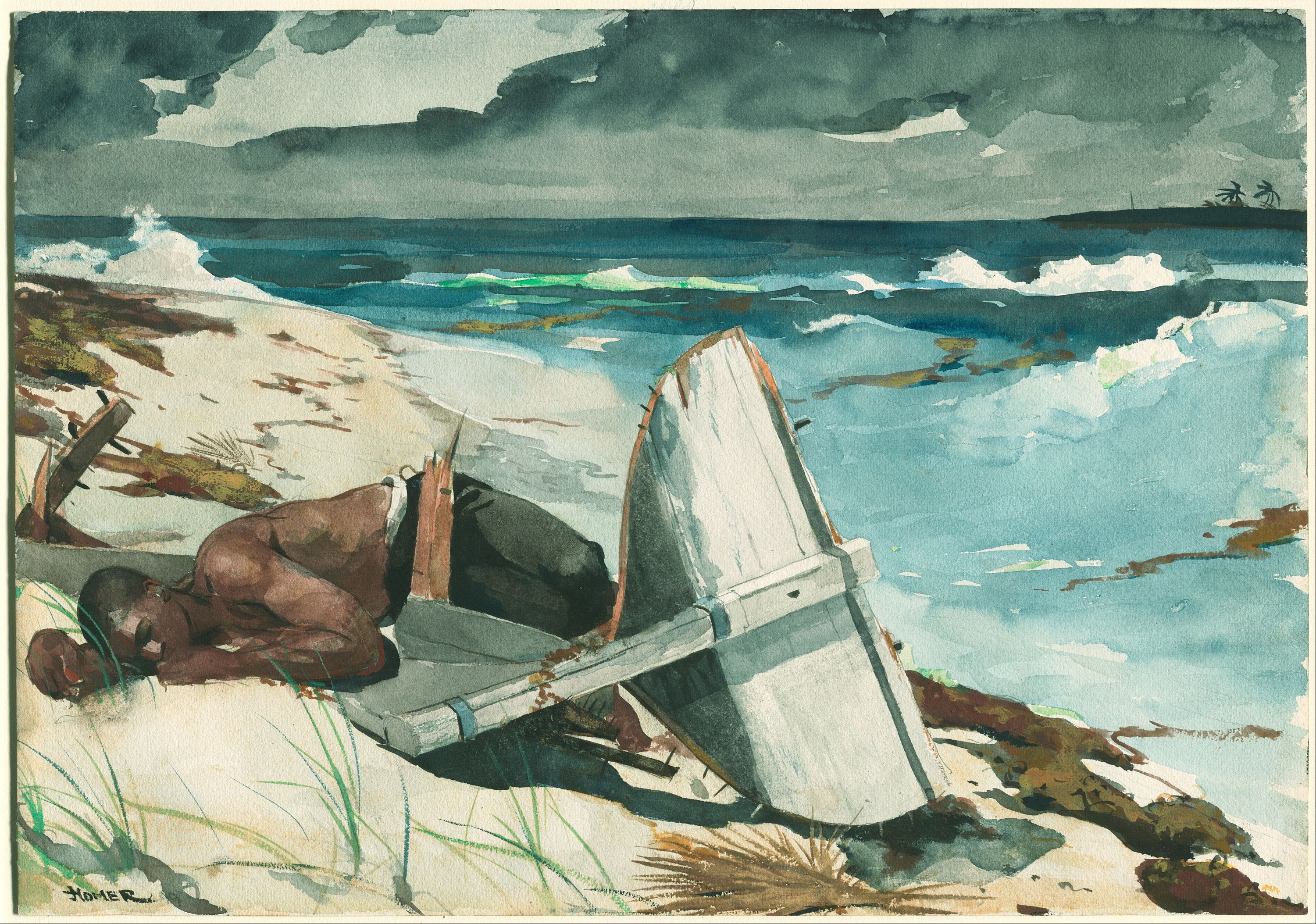 History of watercolor art - File Winslow Homer After The Hurricane Bahamas Google Art Project Jpg