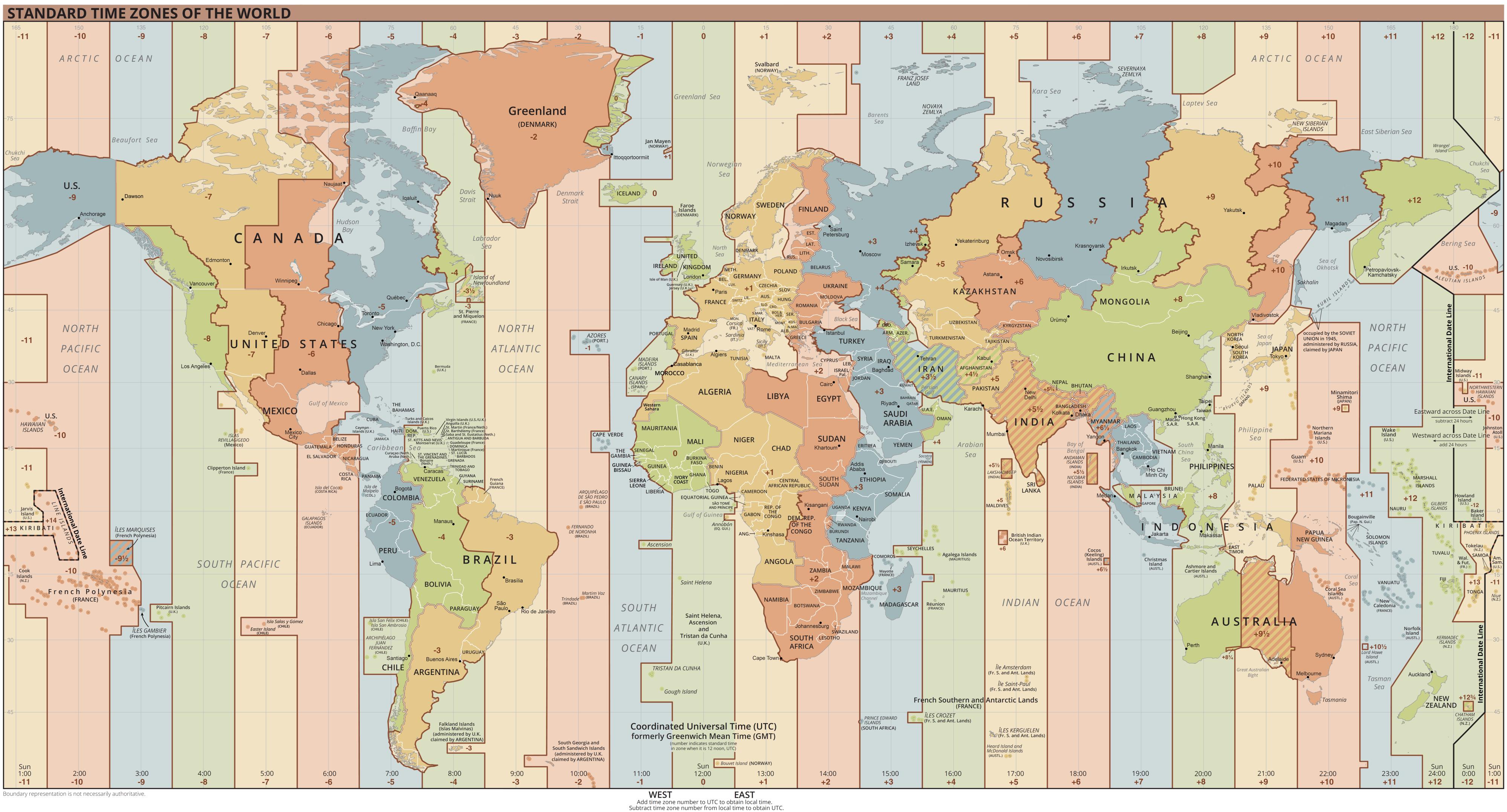 Depiction of Tiempo universal coordinado