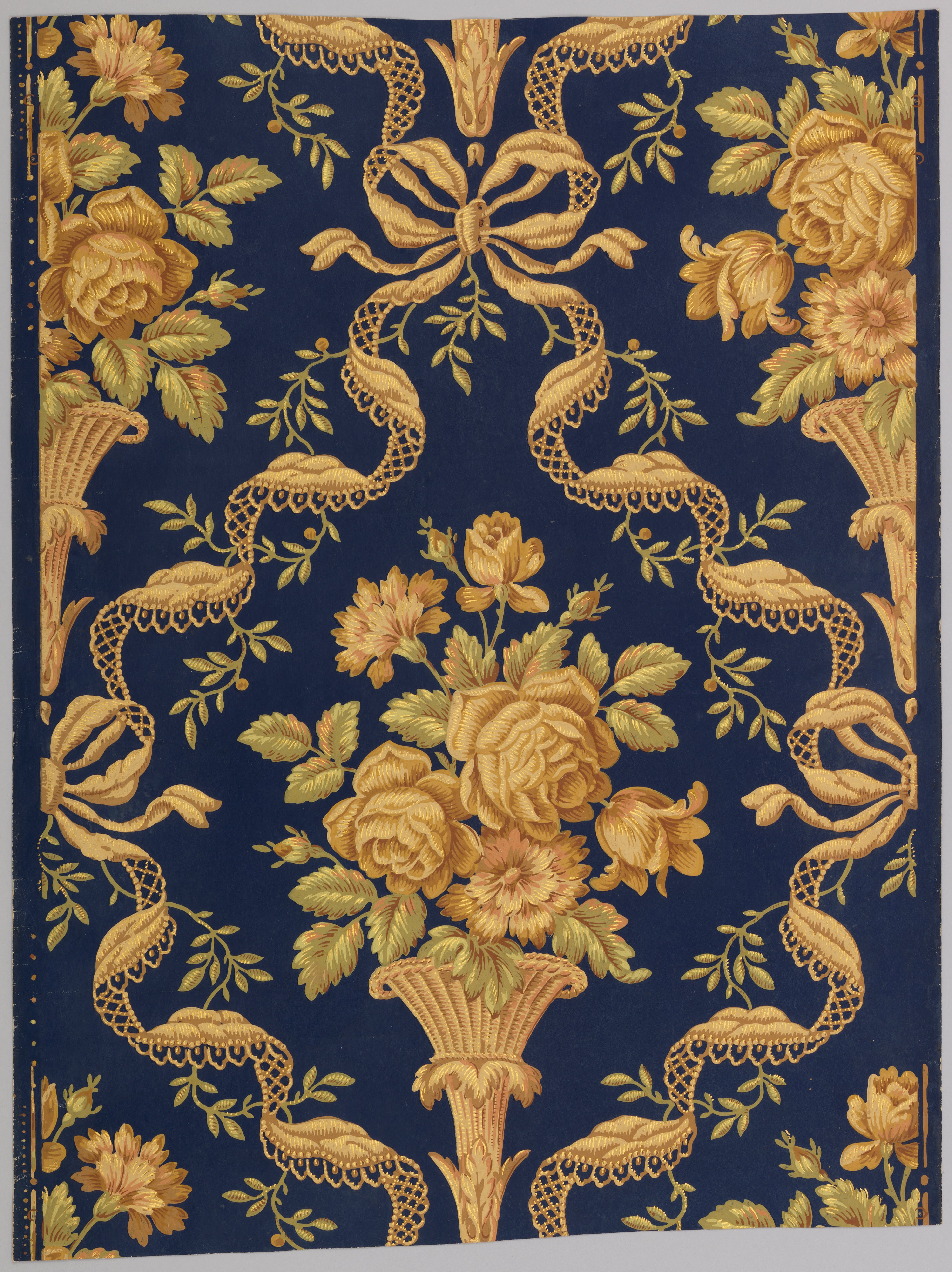 File zuber cie floral brocade google art wikimedia commons - Brocade home decor style ...
