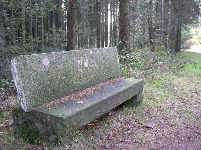 "File:""Rest and be Thankful"" bench - geograph.org.uk - 116817.jpg"