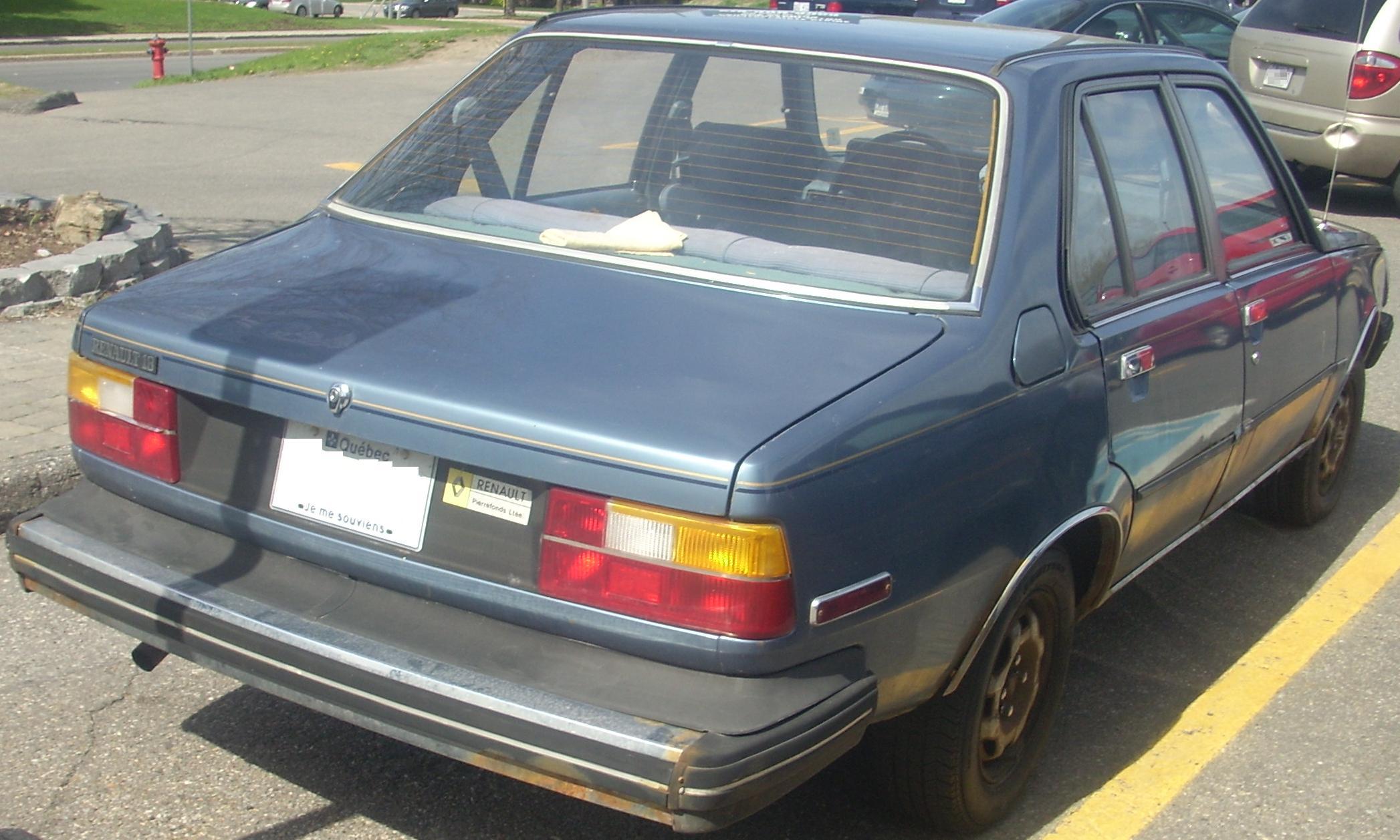 File:'81-'82 Renault 18 Sedan (Rear).jpg - Wikipedia