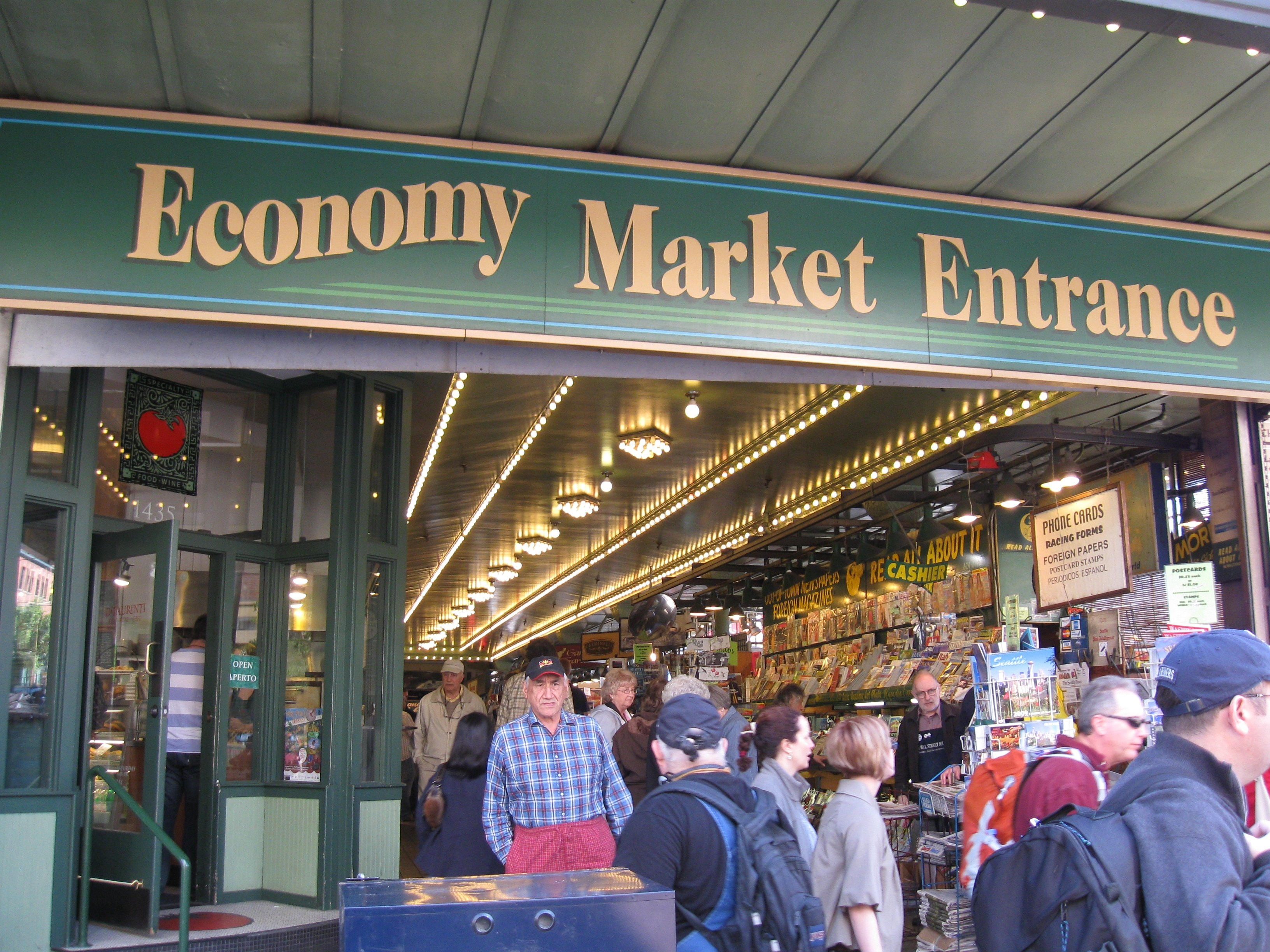 file 09 pike place market economy market entrance on 1st avenue jpg
