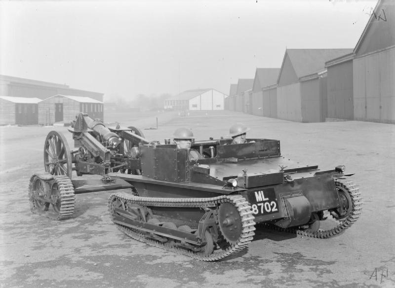 Mk.VI with GS trailer, towing the 3.7 in (93 mm) howitzer