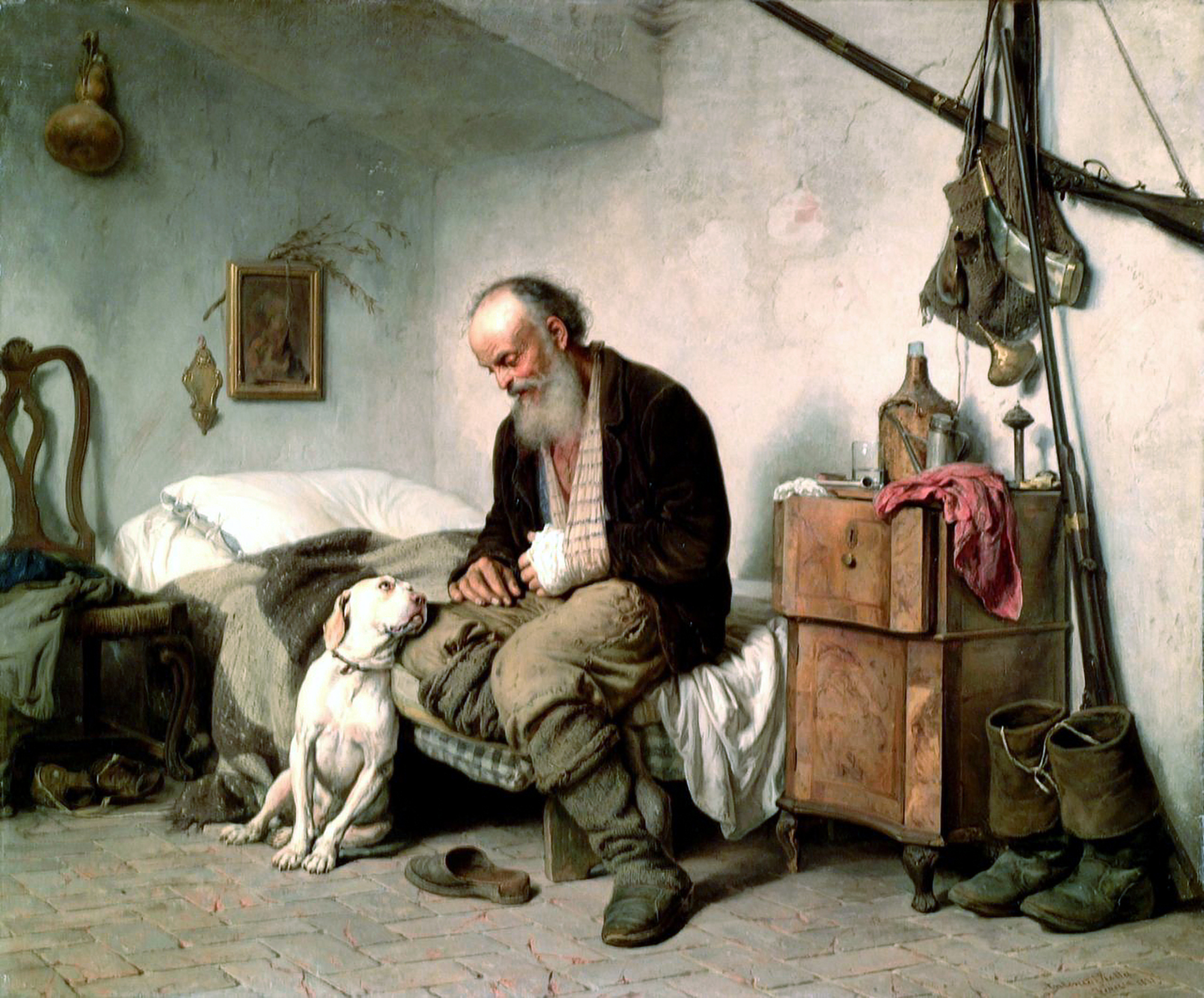 A Man And His Dog >> File A Man And His Dog Antonio Rotta Jpg Wikimedia Commons