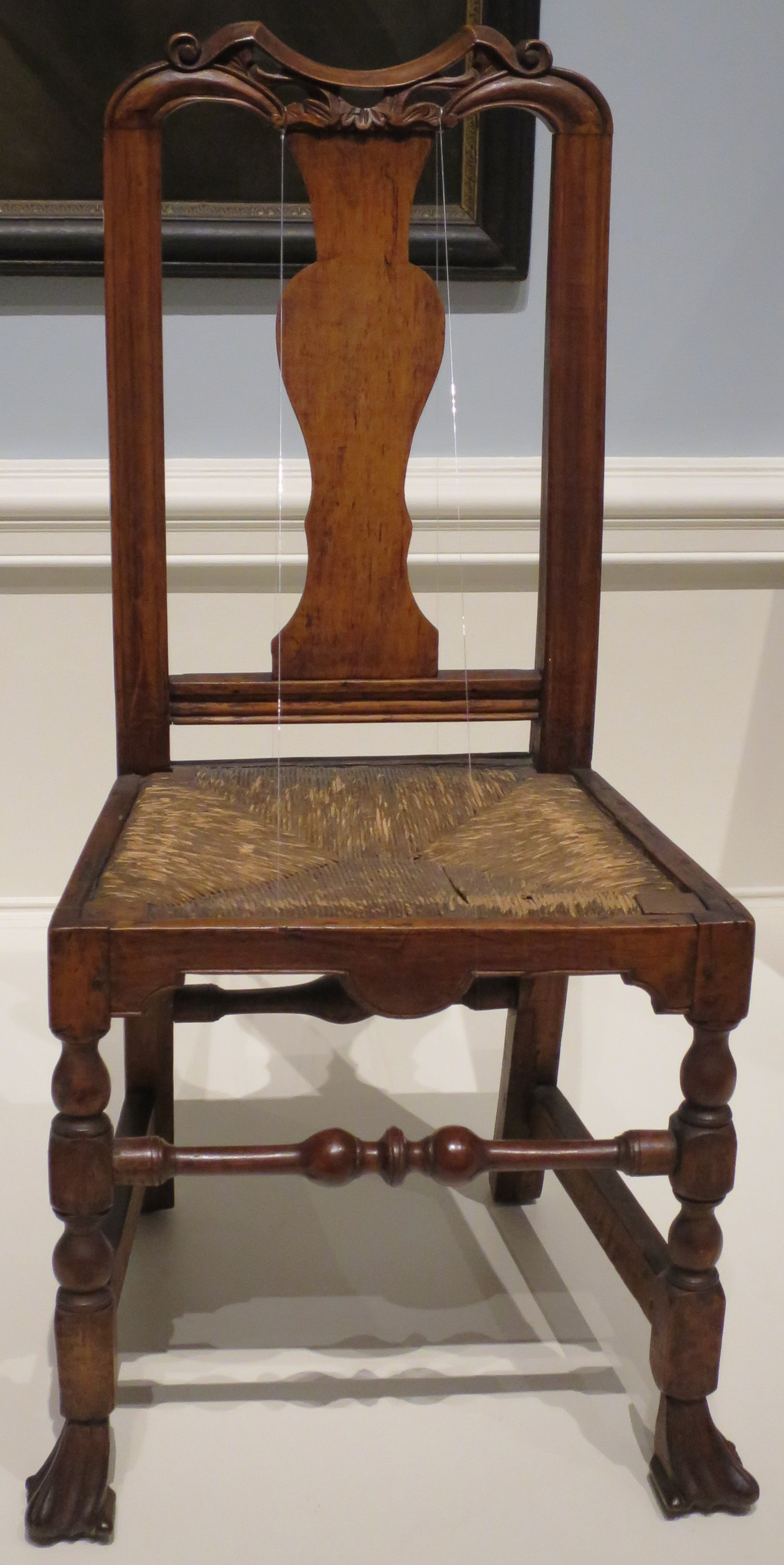 File:American Queen Anne Style Side Chair Made By John Gaines III, C.