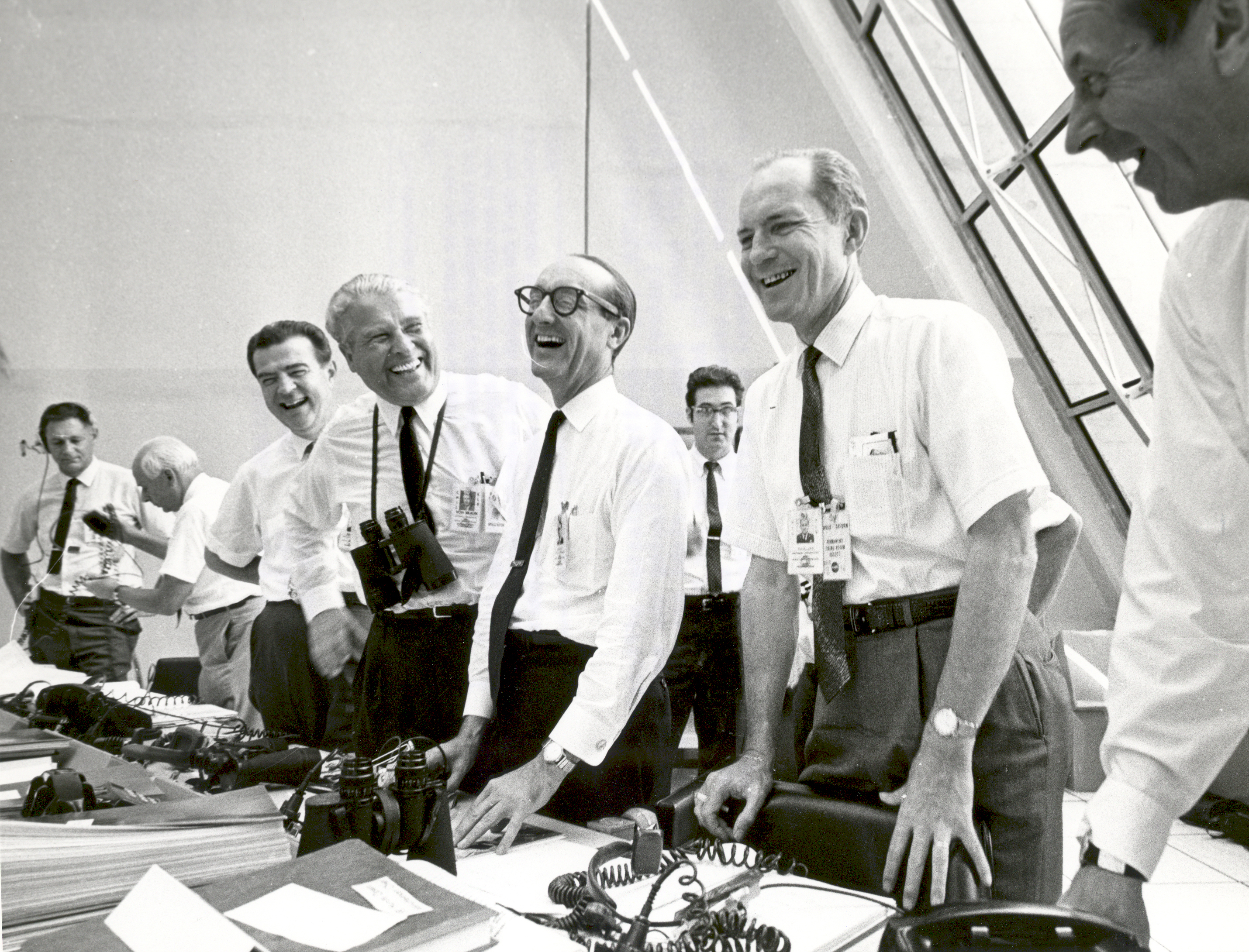 File:Apollo 11 mission officials relax after Apollo 11 ...