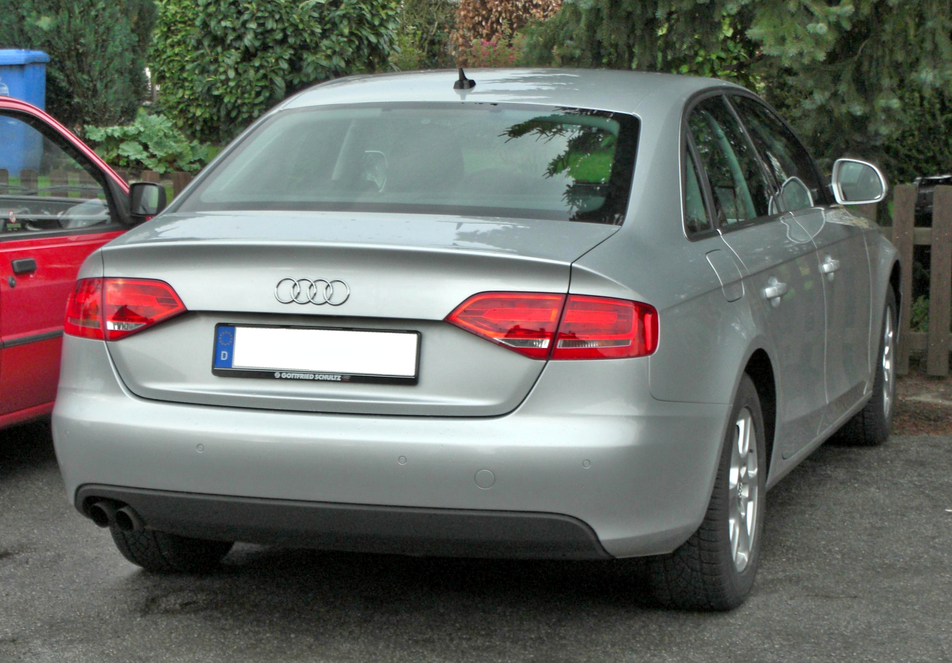 File Audi A4 2008 Rear Jpg Wikimedia Commons