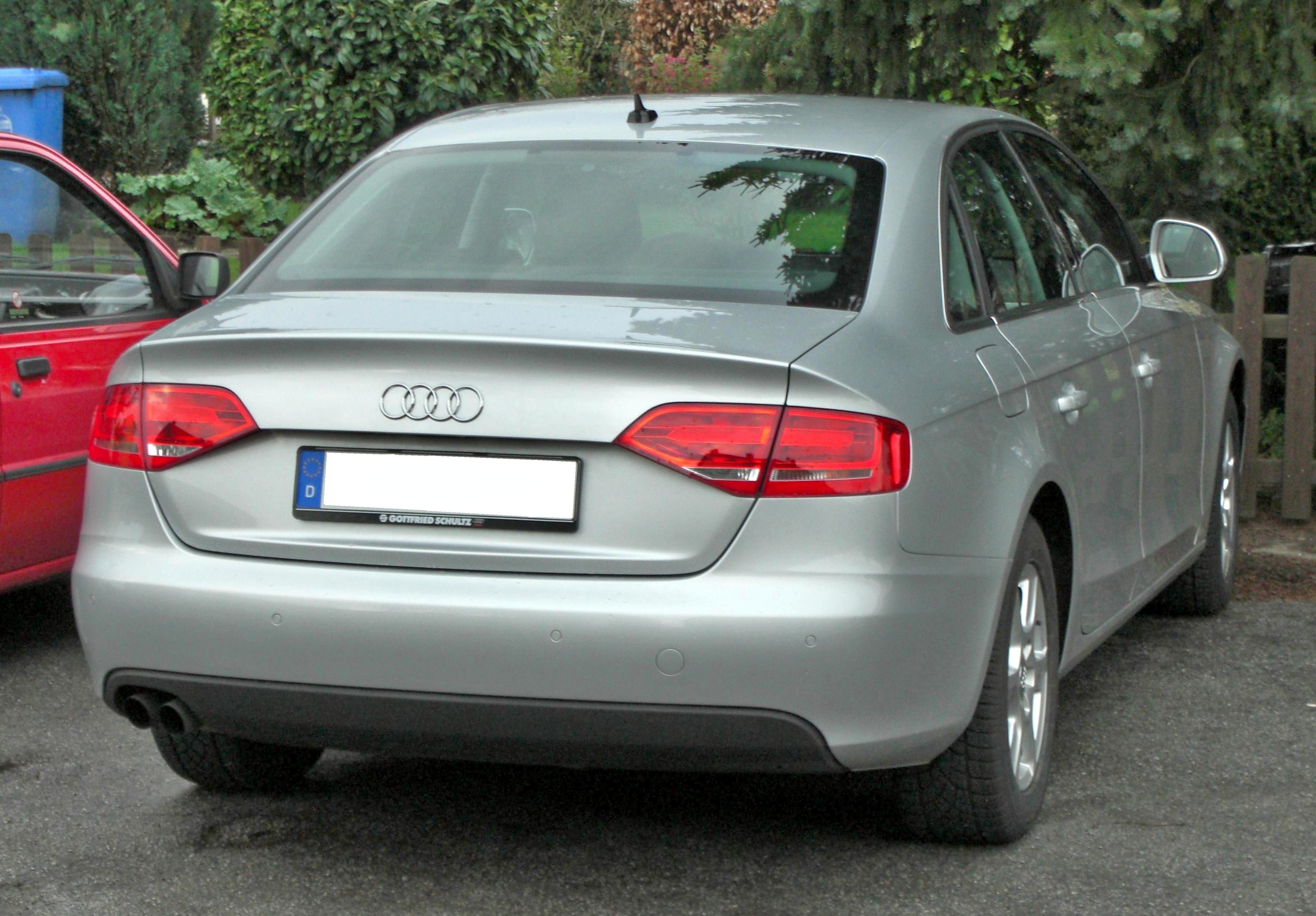 File:Audi A4 (2008) rear.jpg - Wikimedia Commons