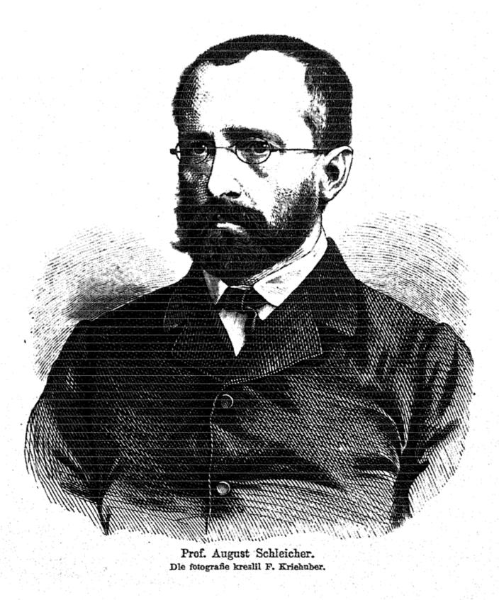 August Schleicher, by [[Friedrich Kriehuber]]