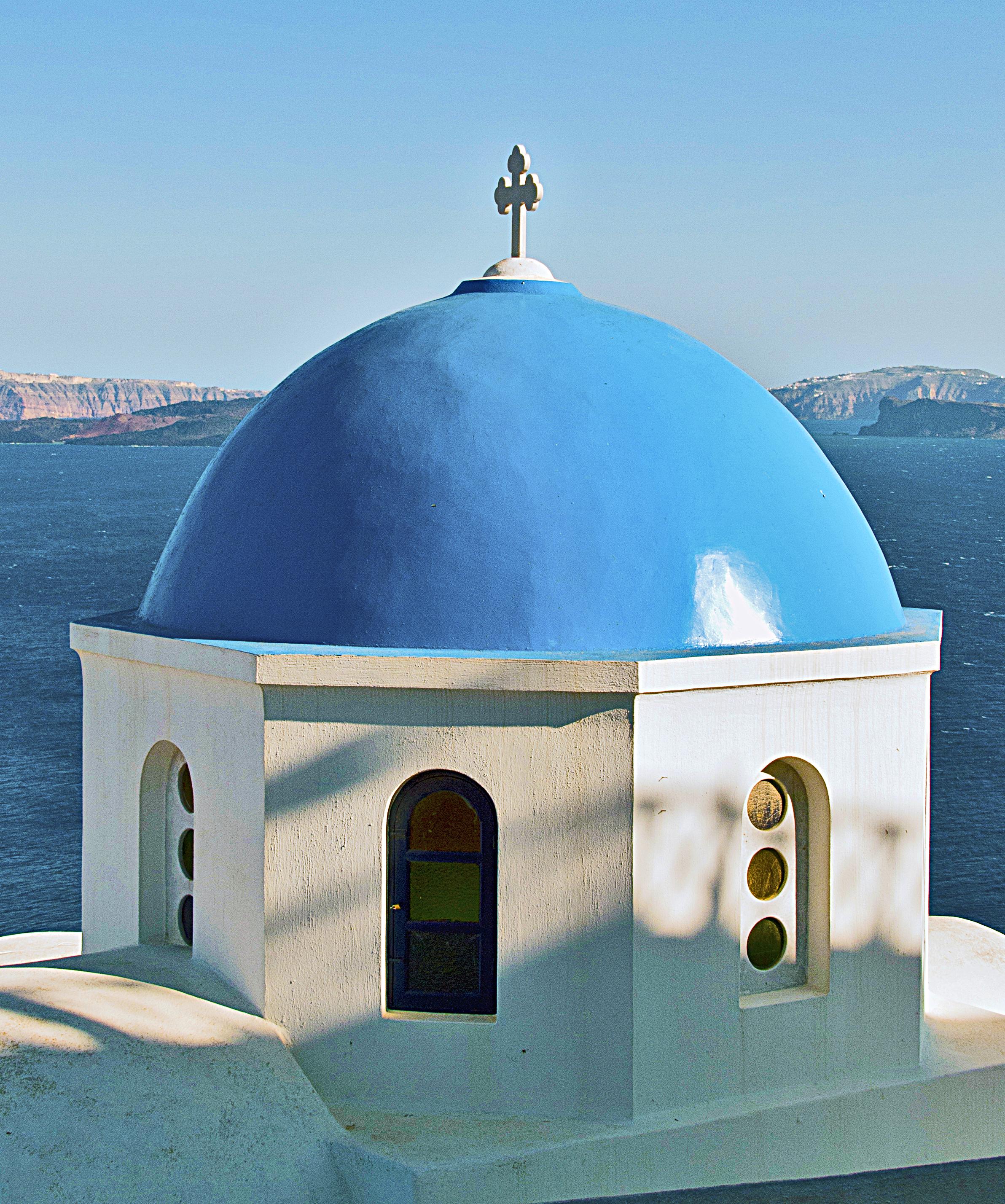 File blue dome santorini wikimedia commons for Santorini blue paint
