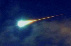 Bolide extremely bright meteor that often explodes in the atmosphere