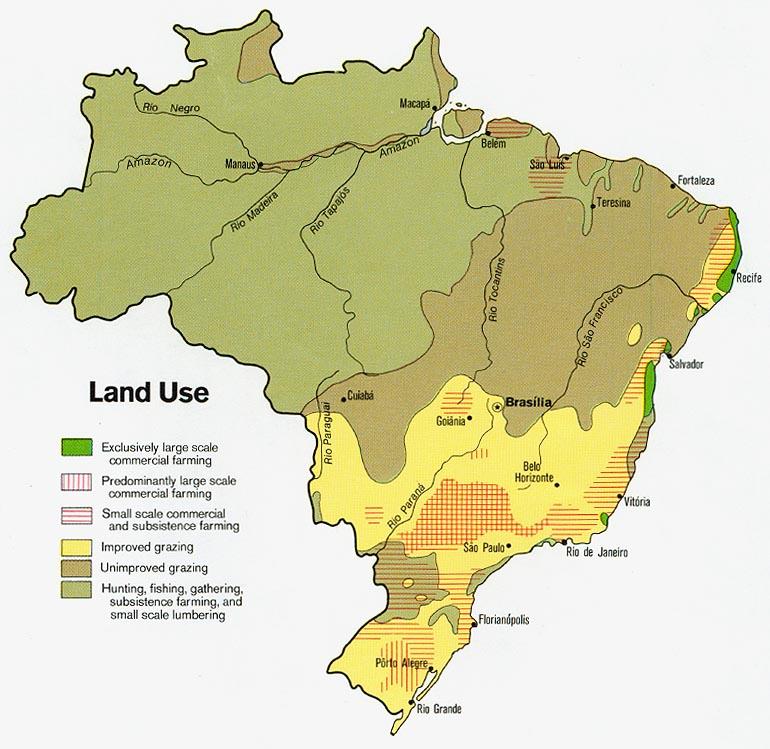 Filebrazil Land 1977 Wikimedia Mons: Brazil Agriculture Map At Infoasik.co