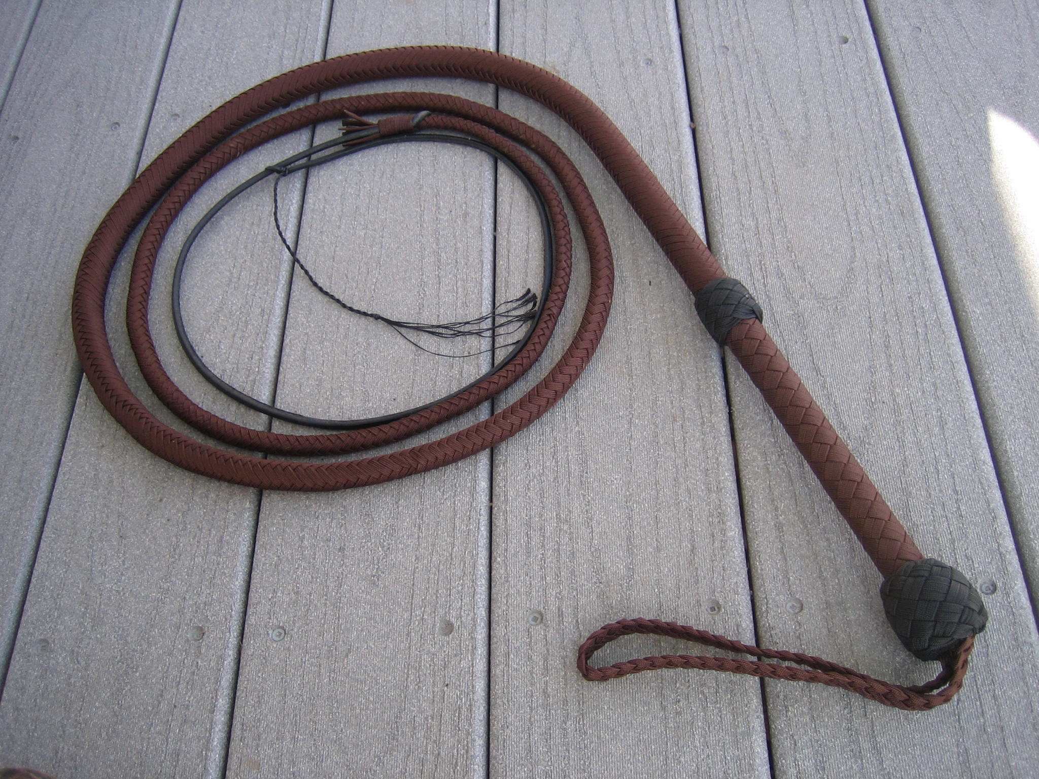 Nylon bull whip want
