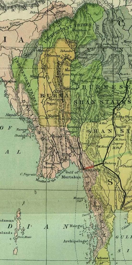 Birmanie Carte Regions.Lower Myanmar Wikipedia