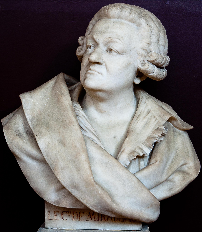 File buste de honoré gabriel riqueti mirabeau salle