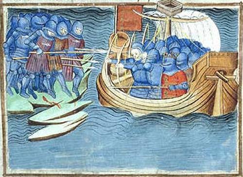 Slag bij Cadzand (Jean Froissart, 14e eeuw)