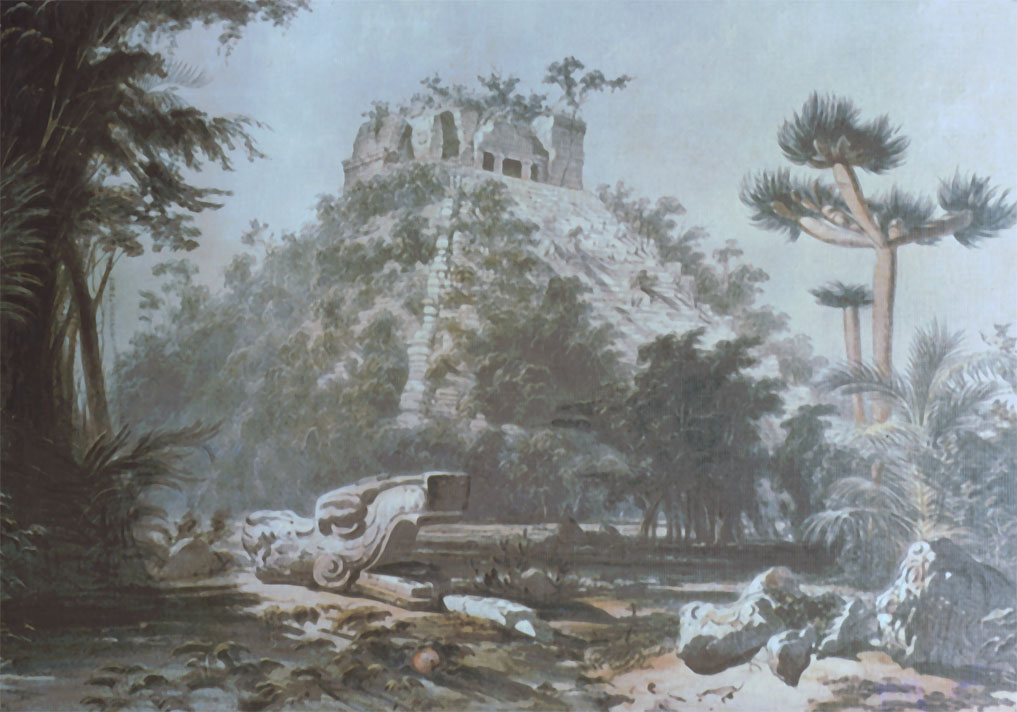 Chichen Itza Castillo (Catherwood).jpg
