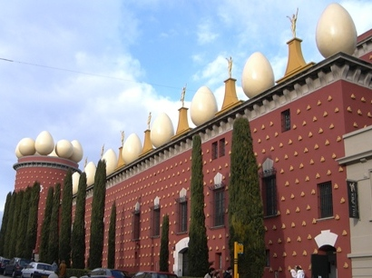 Dali Theatre and Museum in Figueres also holds the crypt where Dali is buried Dali museum.jpg