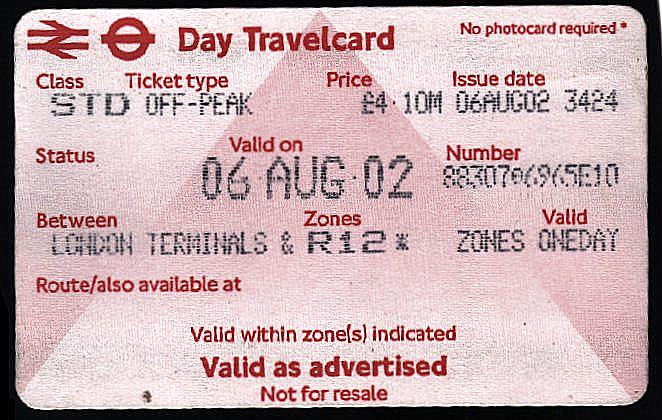 day travelcard: