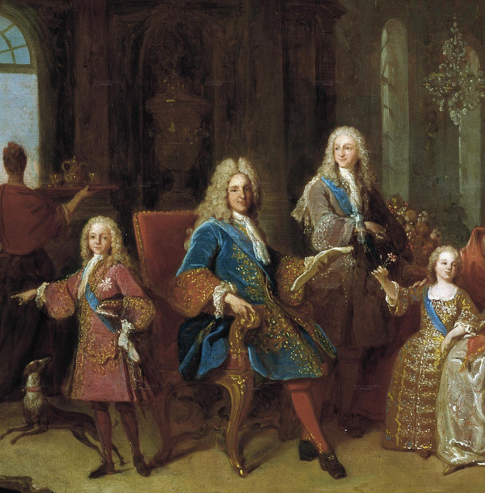 File:Detail of the 1723 painting of the family of Felipe V ...