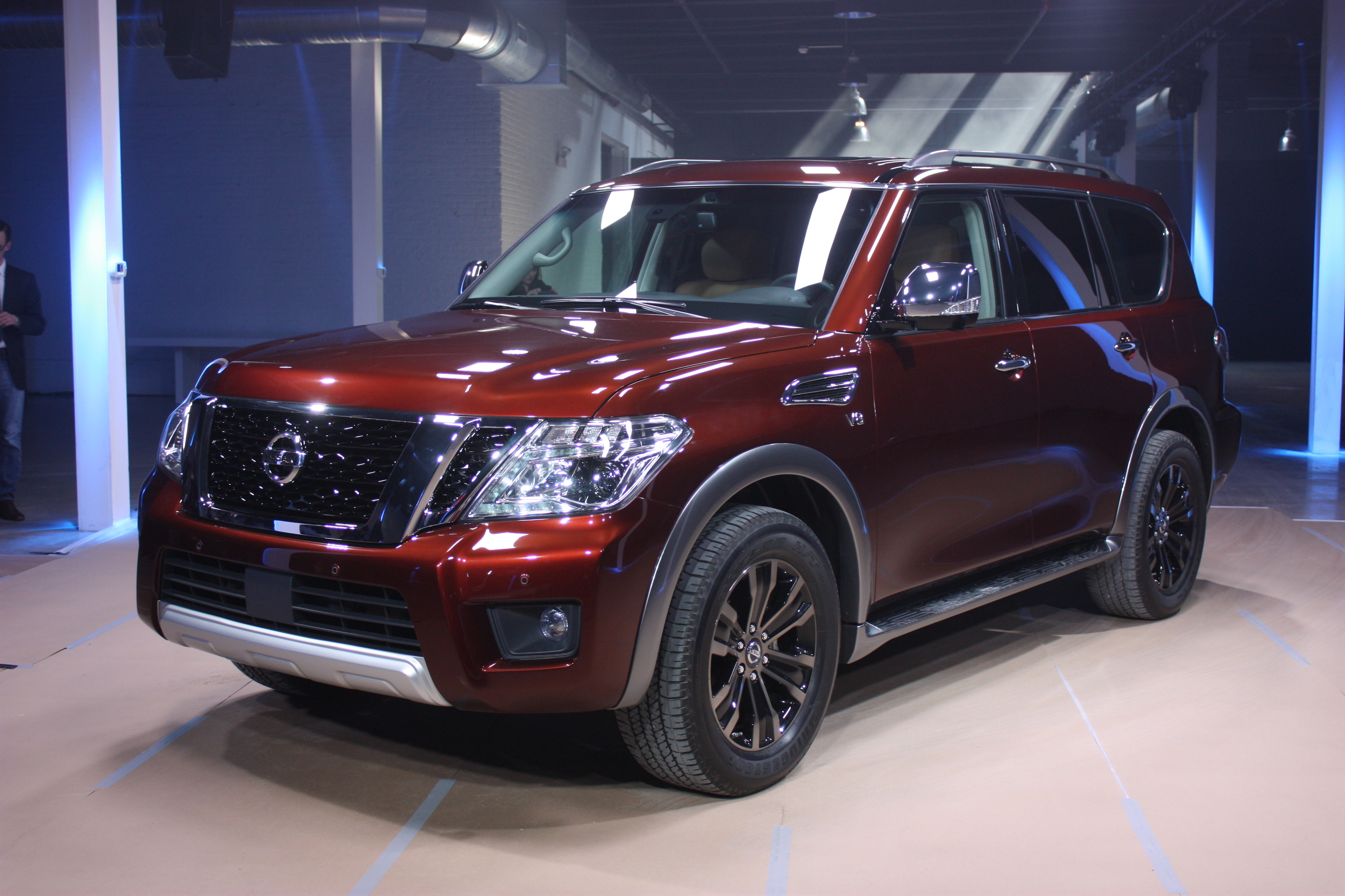 Display Of The 2nd Gen Nissan Armada Jpg