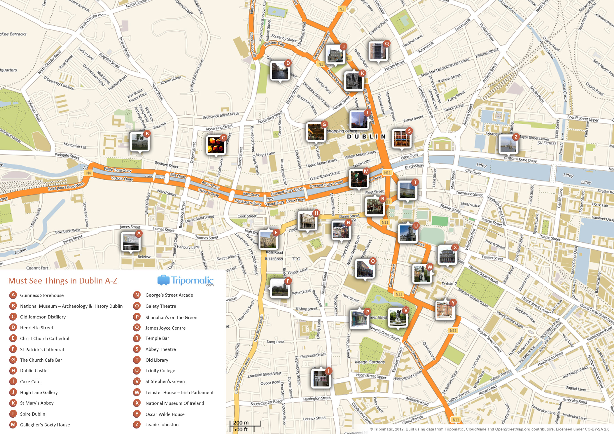 {FileDublin printable tourist attractions mapjpg Wikimedia Commons – Tourist Map Dublin