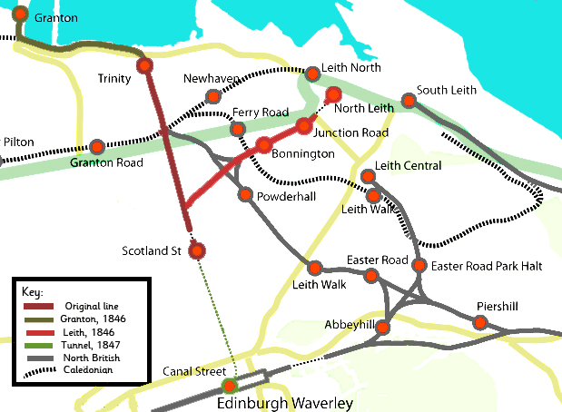 Train Routes In Scotland Map.Edinburgh Leith And Newhaven Railway Wikipedia