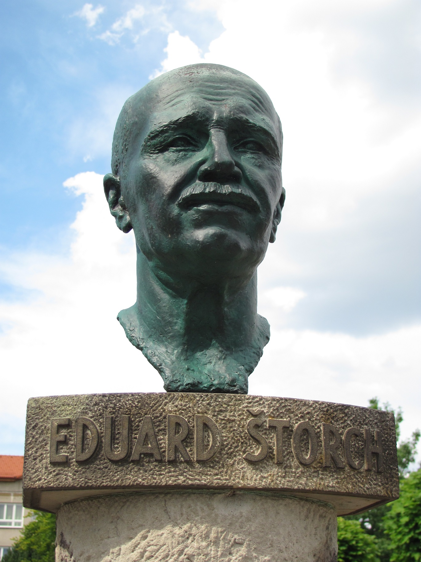 Bust of Eduard Štorch in his native [[Ostroměř