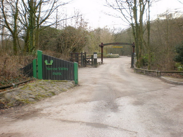 Entrance to Yarrow Valley Park - geograph.org.uk - 1105209