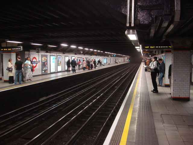 File Euston Square Tube Station Westbound Platform