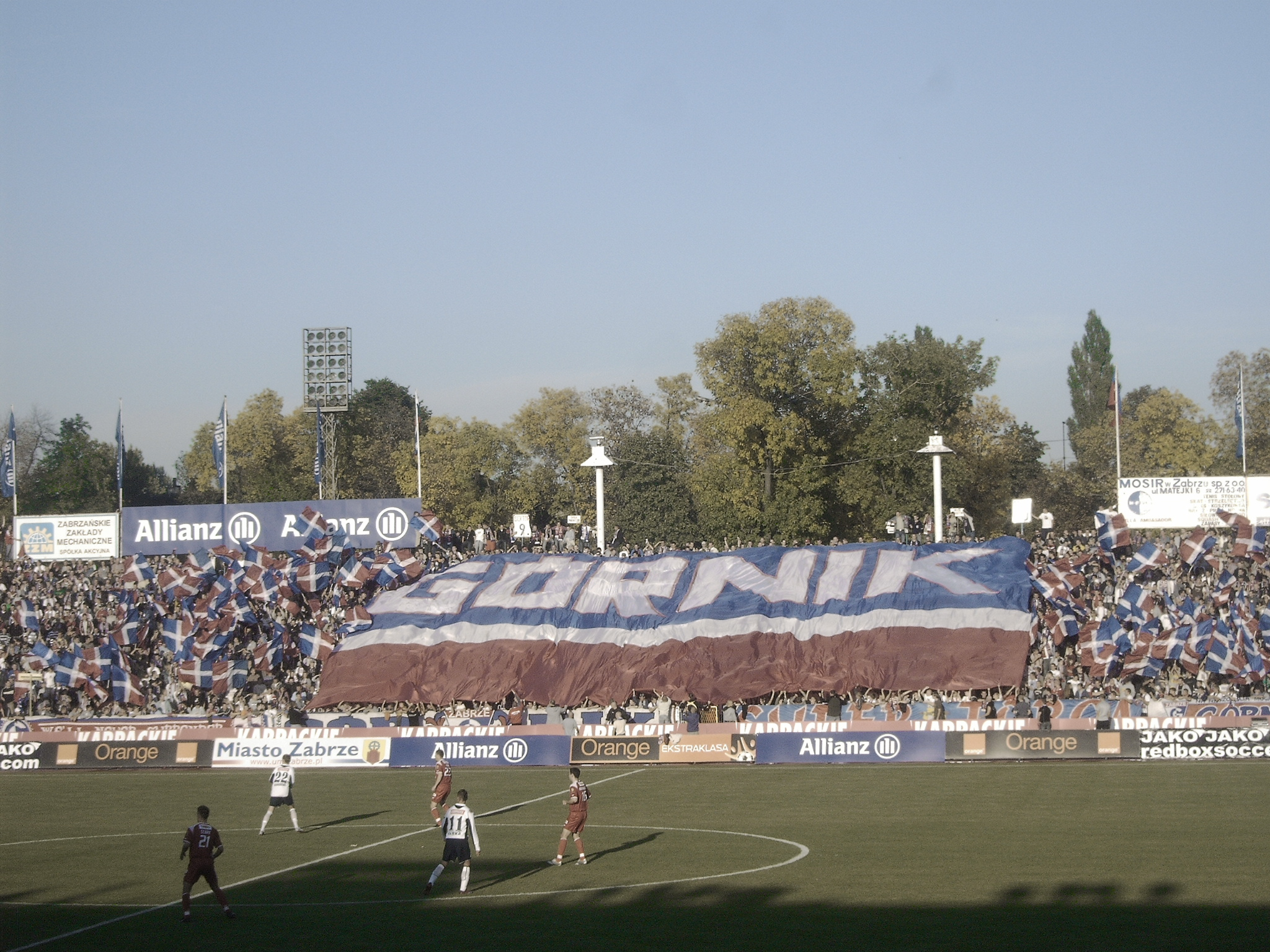 Fanchoreographie im Zabrzer Ernest Pol Stadion.jpg