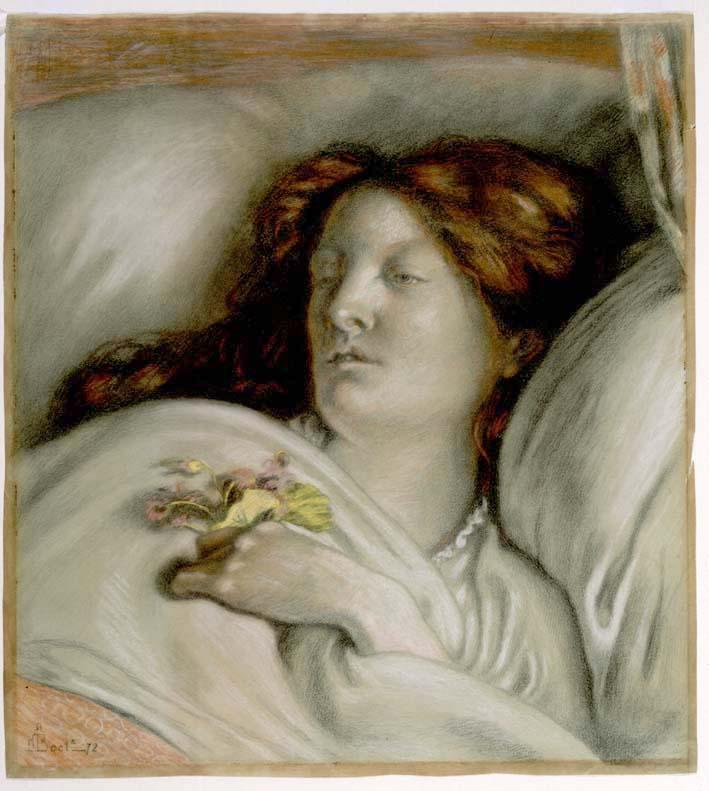 Ford Madox Brown - Convalescent - Portrait of Emma Madox Brown