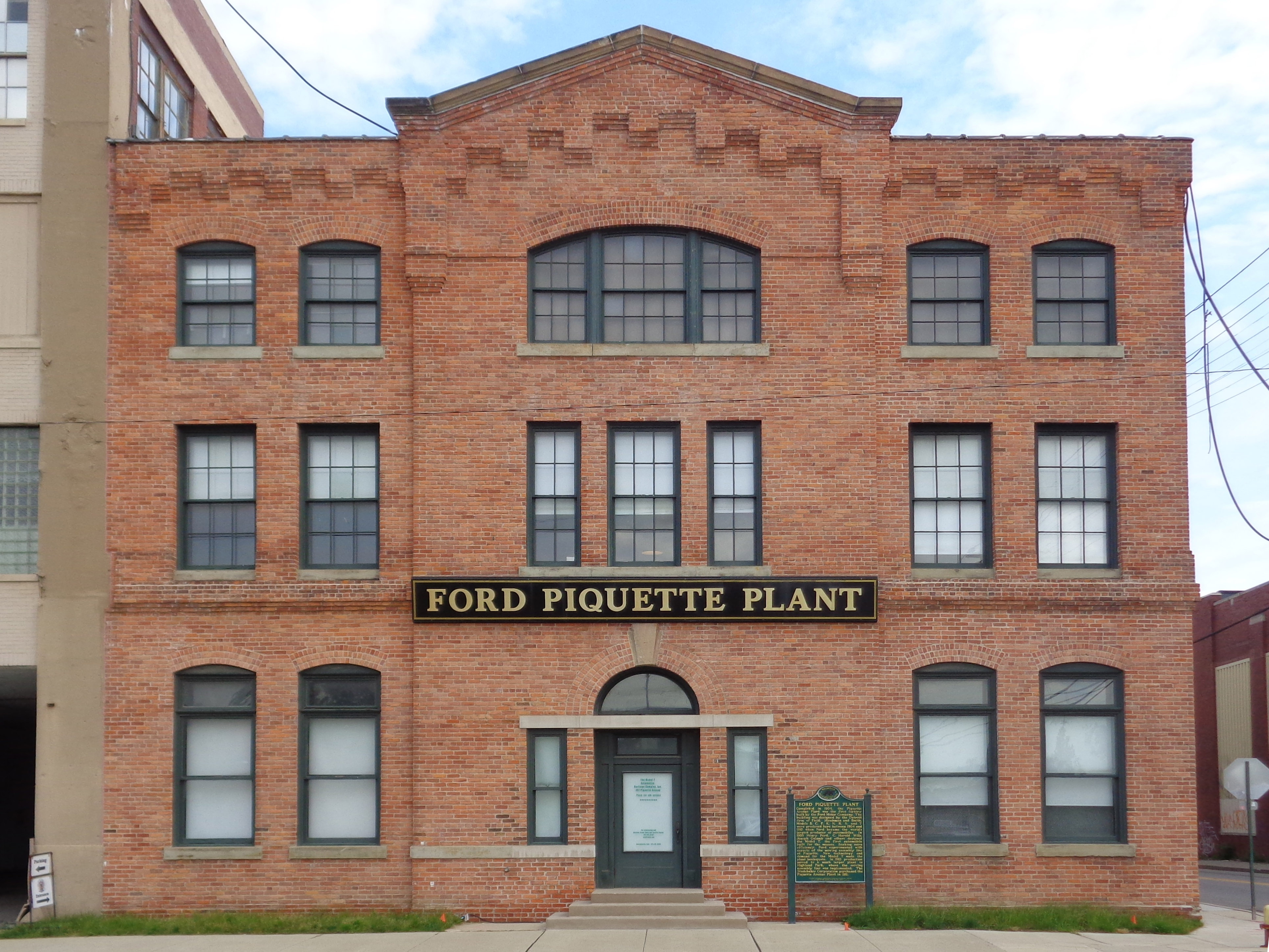 file ford piquette avenue plant front façade jpg wikimedia commons
