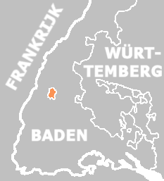 The Principality of Leyen, shown within the Grand Duchy of Baden