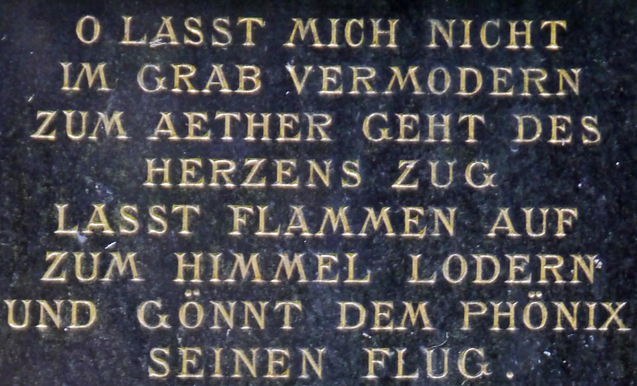 Filegrabsteinspruch Urnenhain Hauptfriedhof Ffm 966jpg Wikimedia