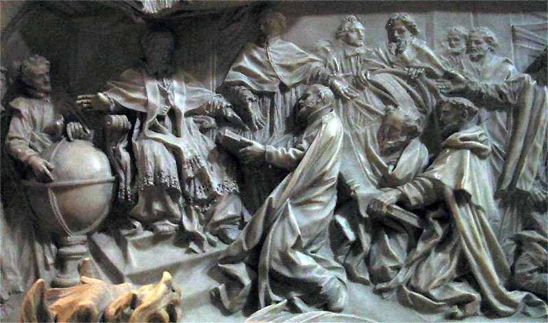 The mythical Gods - Inscription on the grave of Gregory XIII, St. Peter's Basilica
