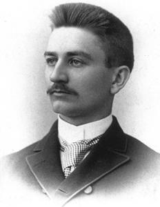 Case alumnus Herbert Henry Dow, founder of Dow Chemical. HDow1888.jpg
