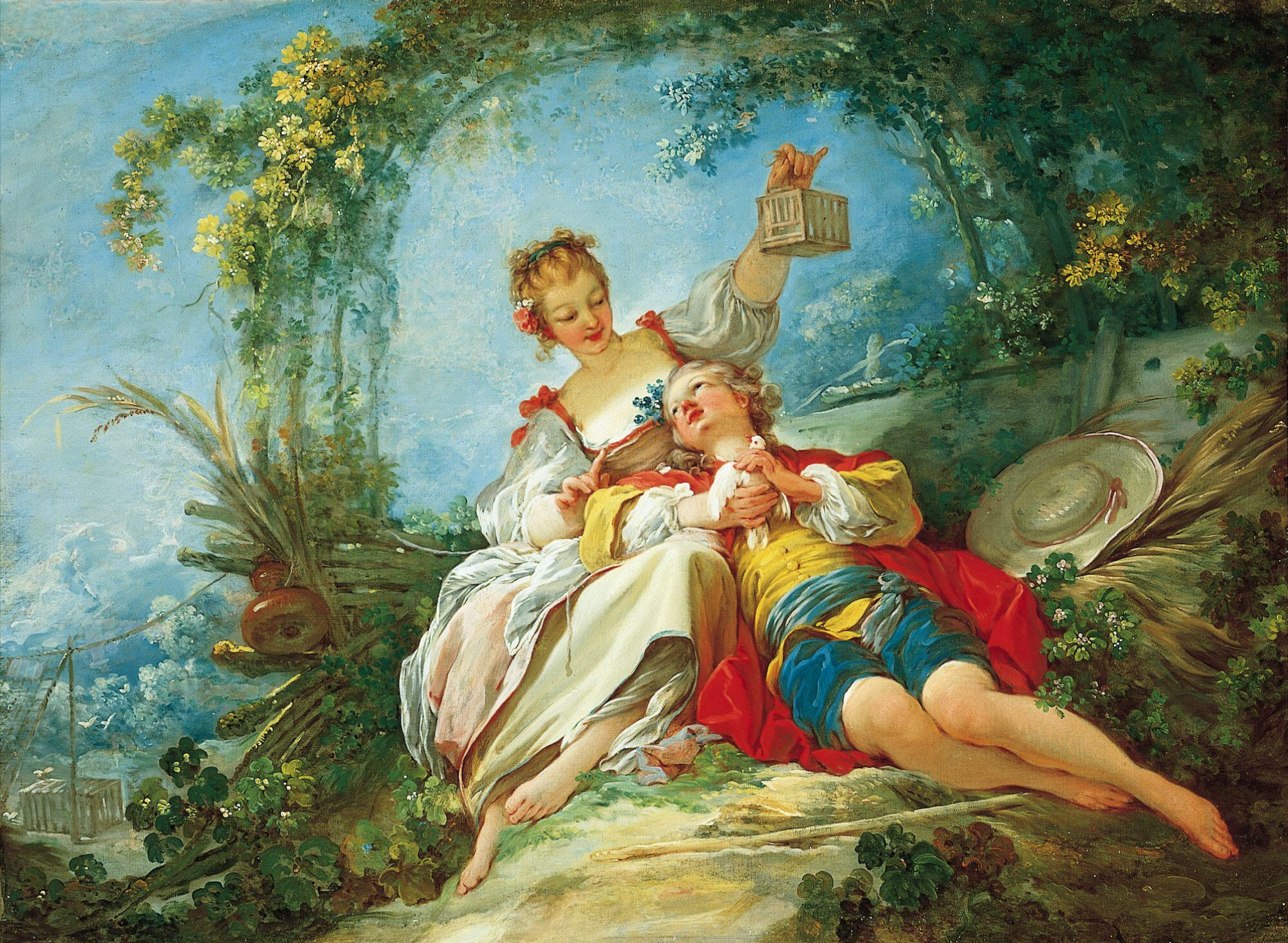 'Happy lovers' By Fragonard [Public domain], <a href=