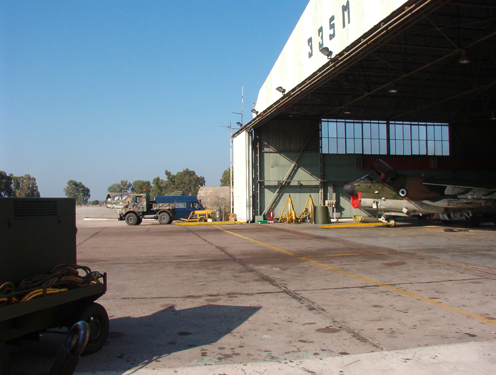 Hellenic Airforce - 335 SQ Repair Hangar - close-up