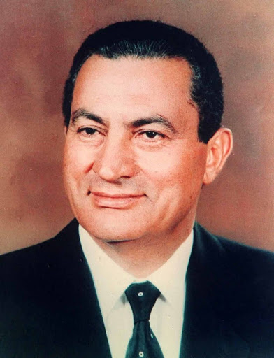 Official photograph of Egyptian President Hosn...