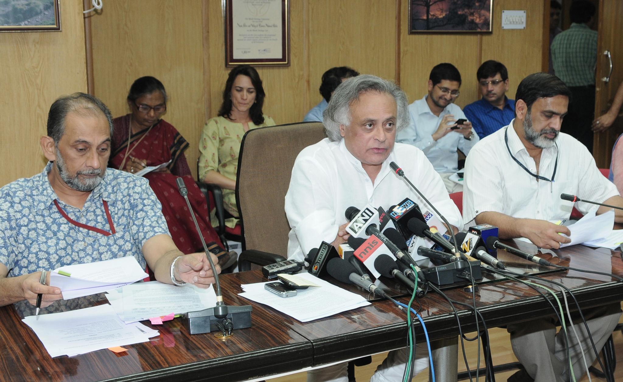 Filejairam Ramesh Addressing The Media At The Signing Ceremony Of